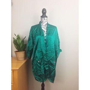 Vintage Esme Emerald Green Robe Kimono